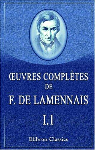 Euvres complètes de F. de Lamennais