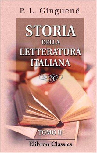 Download Storia della letteratura italiana