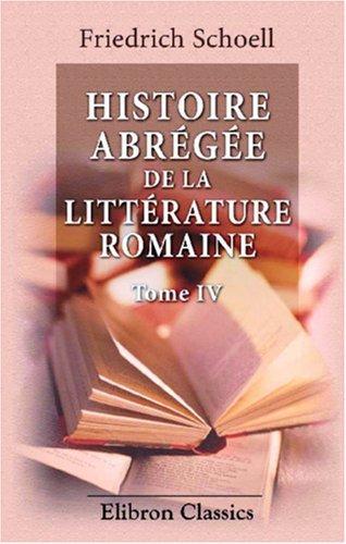 Histoire abrégée de la littérature romaine