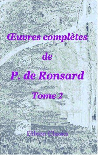 Download uvres complètes de P. de Ronsard