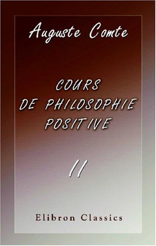 Download Cours de philosophie positive