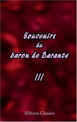 Download Souvenirs du baron de Barante