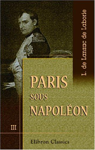 Download Paris sous Napoléon