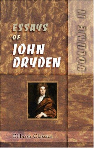 Download Essays of John Dryden