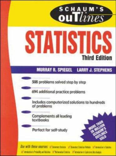 Download Schaum's outline of theory and problems of statistics.