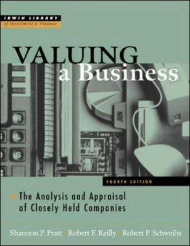 Download Valuing a business