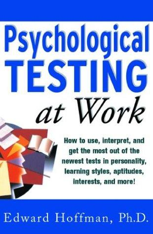 Download Psychological testing at work