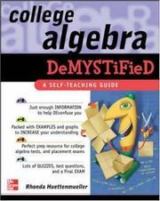 College Algebra Demystified [Paperback] by Rhonda Huettenmueller