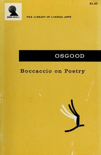 Boccaccio on poetry