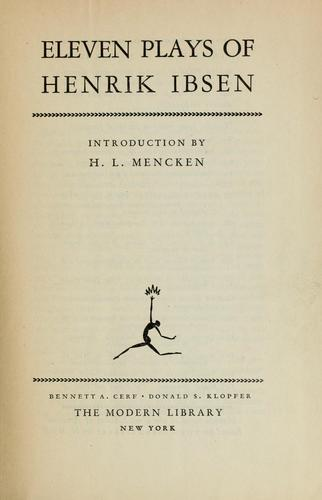 Eleven plays of Henrik Ibsen