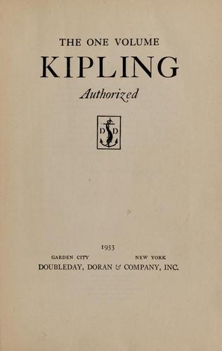 The one volume Kipling, authorized
