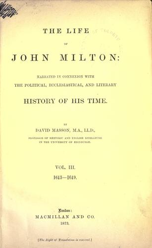 The age of Milton