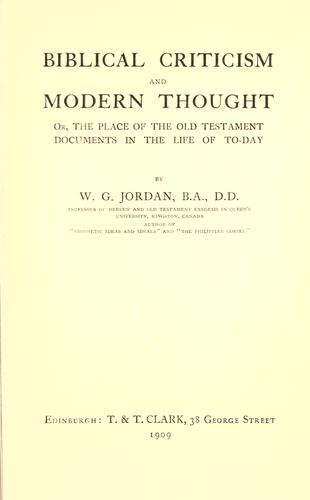 Download Biblical criticism and modern thought