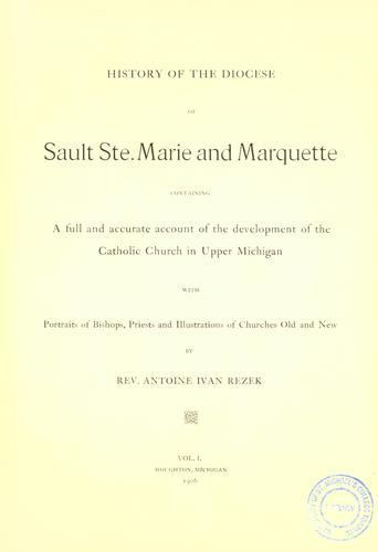 History of the diocese of Sault Ste. Marie and Marquette