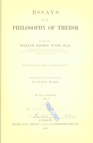 Download Essays on the Philosophy of Theism