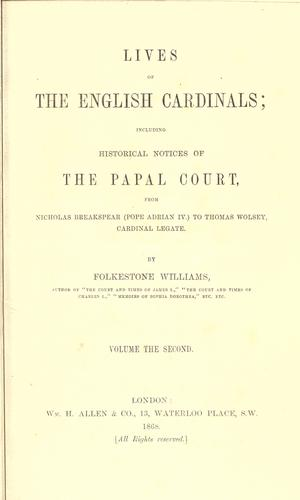 Download Lives of the English cardinals