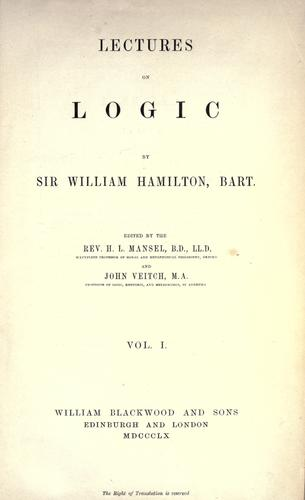 Download Lectures on metaphysics and logic.