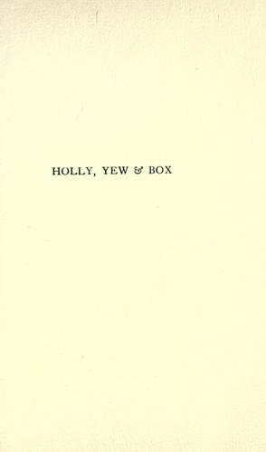 Download Holly, yew & box