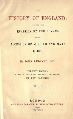 Download The history of England from the first invasion by the Romans to the accession of William and Mary in 1688
