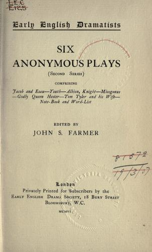 Download Anonymous plays.
