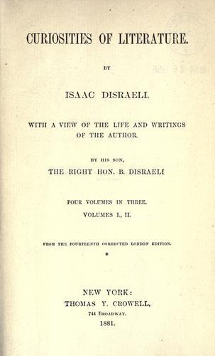 Download Curiosities of literature