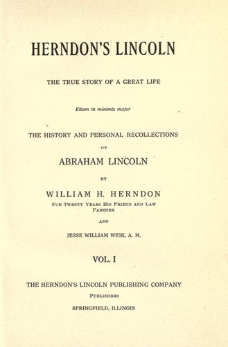 Download Herndon's Lincoln