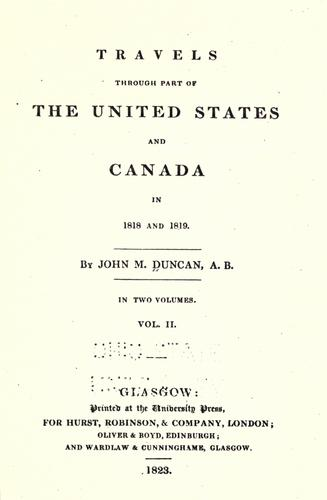 Download Travels through part of the United States and Canada in 1818 and 1819