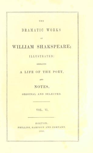 Download The dramatic works of William Shakspeare…