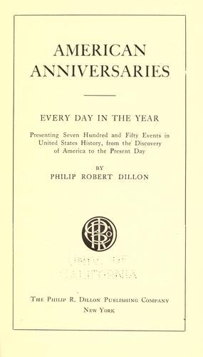 American anniversaries