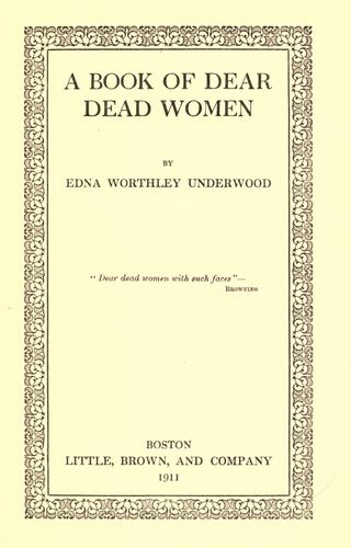 A book of dear dead women