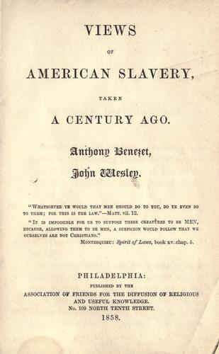 Download Views of American slavery