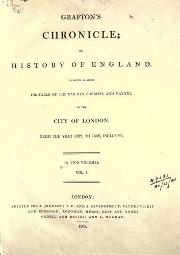Grafton's chronicle
