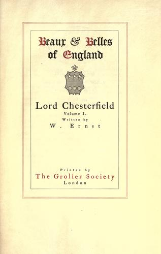 Download Lord Chesterfield