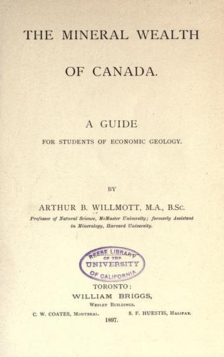 The mineral wealth of Canada