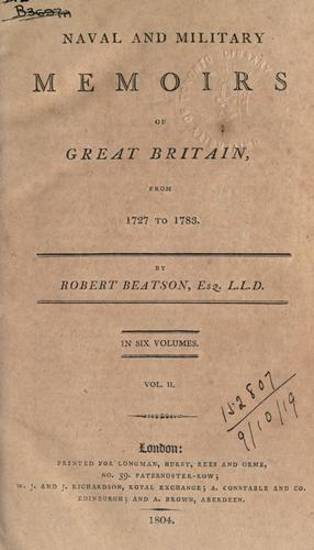 Download Naval and military memoirs of Great Britain, from 1727 to 1783.