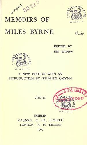 Memoirs of Miles Byrne