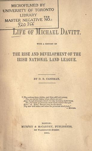 Download The life of Michael Davitt