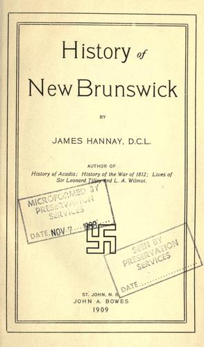 Download History of New Brunswick