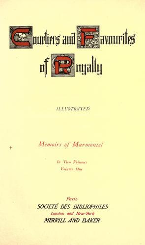 Memoirs of Marmontel.