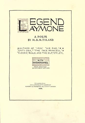 Legend Laymore by M. B. M. Toland