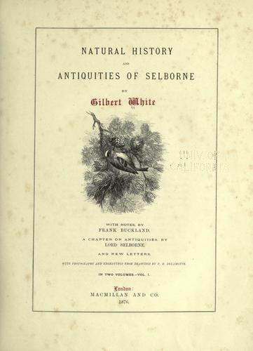Download Natural history and antiquities of Selborne
