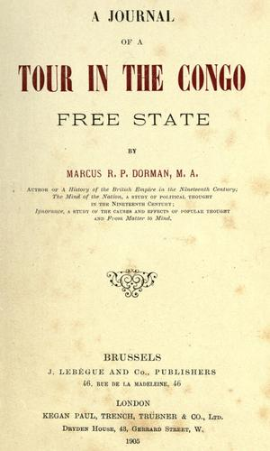 Download A journal of a tour in the Congo Free State