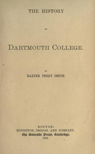 Download The history of Dartmouth College.