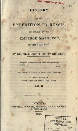 Download History of the expedition to Russia, undertaken by the Emperor Napoleon, in the year 1812.