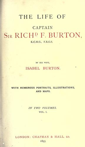 Download The life of Captain Sir Richd F. Burton