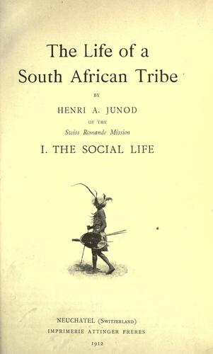 The life of a South African tribe.
