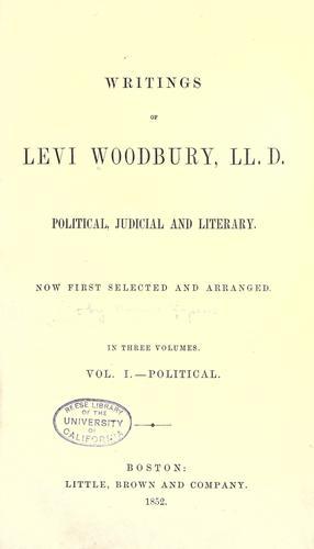 Writings of Levi Woodbury, LL.D.