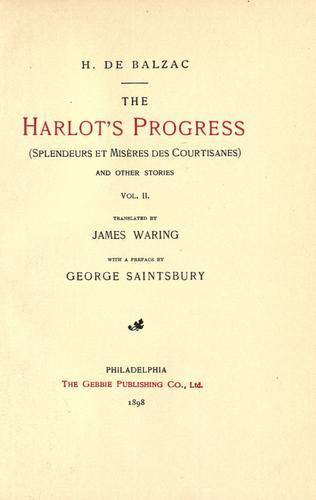 The harlot's progress