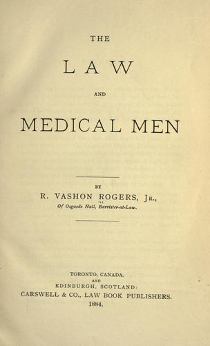 Download The law and medical men