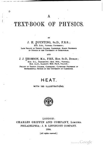 A text-book of physics.